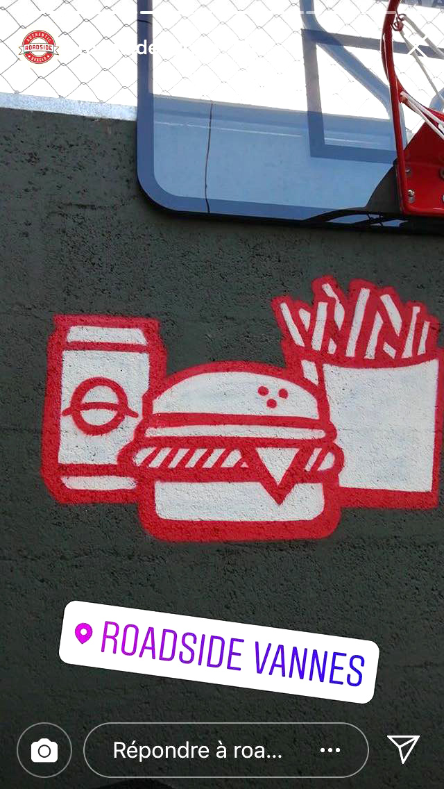 décoration graffiti roadside Nicolas Sinic