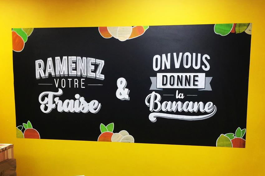 Panneau La cabionnette lettering création design Nicolas Sinic