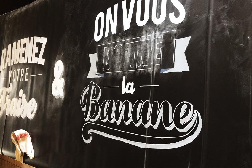 Détail poncif la cabionnette création lettering
