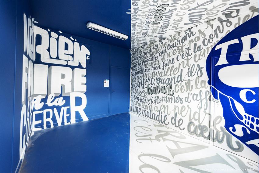 Salle dédale Street art Vannes Nicolas Sinic