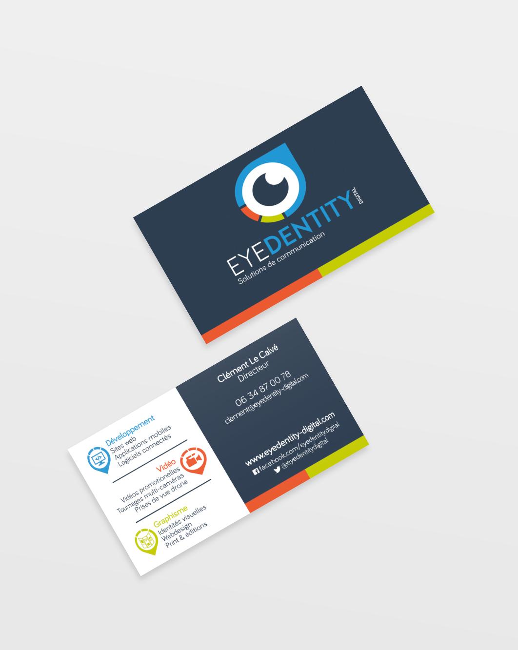 Carte de visites logo Graphisme vidéo communication