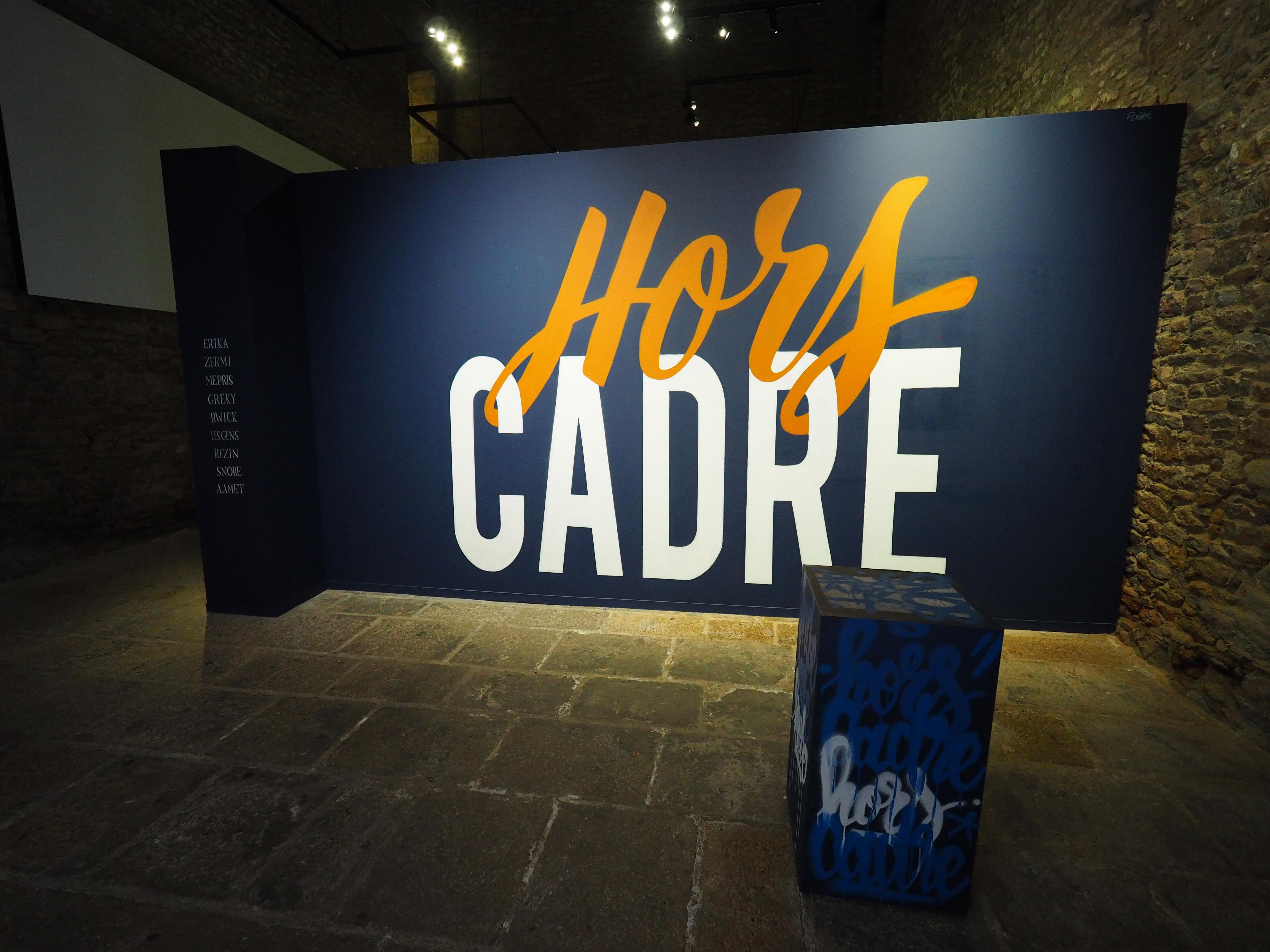 Hors cadre graffiti lettering exposition au musée de vannes Nicolas Sinic